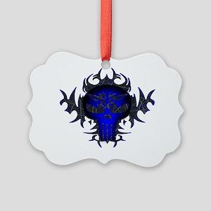 Blue11x9w Picture Ornament