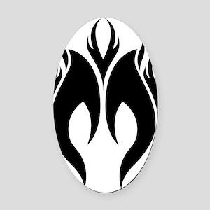logo-mark-bk Oval Car Magnet