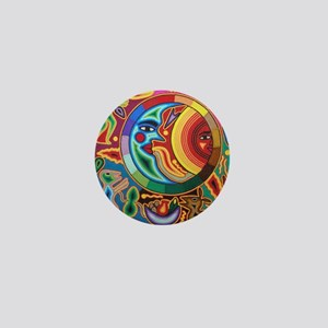 Mexican_String_Art_Image_Sun_Moon_Stad Mini Button