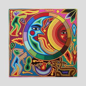 Mexican_String_Art_Image_Sun_Moon_Stad Queen Duvet
