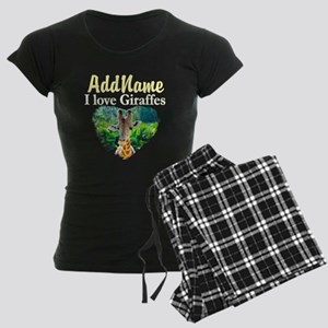 GIRAFFES RULE Women's Dark Pajamas