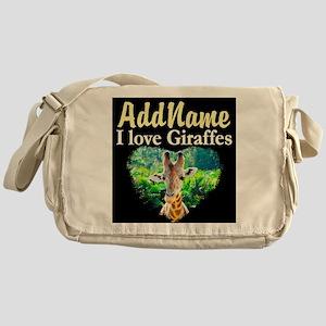GIRAFFES RULE Messenger Bag