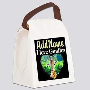 GIRAFFES RULE Canvas Lunch Bag
