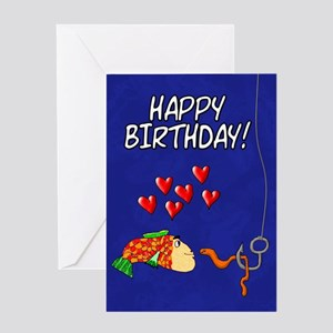 Humorous Birthday Love Fish And Bait Greeting Card