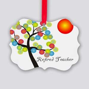 Retired Teacher Tree BALLS OF COL Picture Ornament