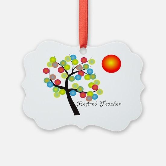 Retired Teacher Tree BALLS OF COL Ornament