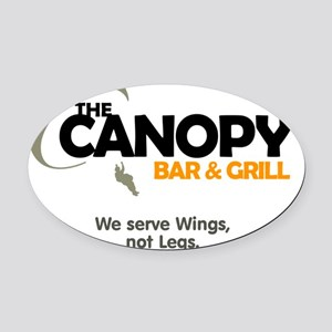 canopy_bng_lite Oval Car Magnet