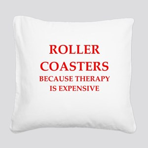 roller coaster Square Canvas Pillow