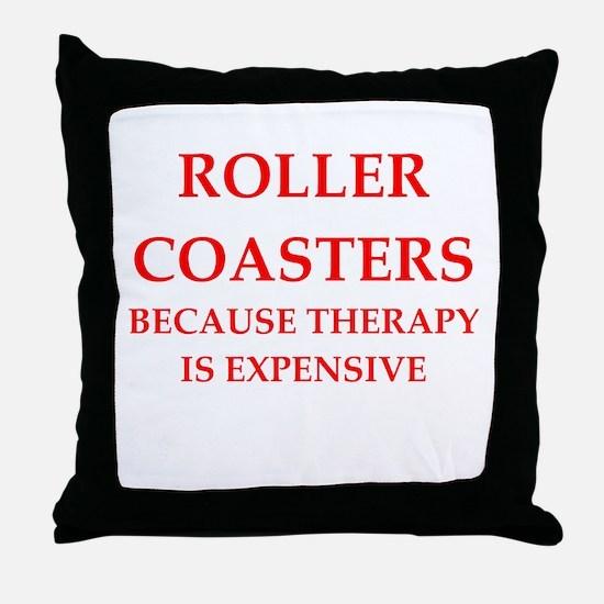 roller coaster Throw Pillow