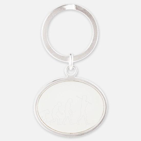 pinnacleofevolution4dk Oval Keychain