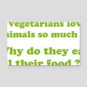 vegetariansfood1D Rectangle Car Magnet