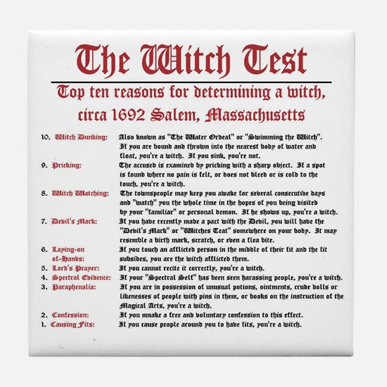 """""""The Witch Test #2"""" Tile Coaster"""