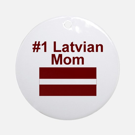 #1 Latvian Mom Ornament (Round)