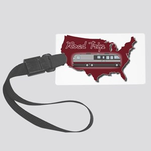 AS_325_345_MH_USA_map_Road_Trip_ Large Luggage Tag