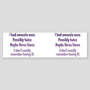 amnesia_mug2 Sticker (Bumper)