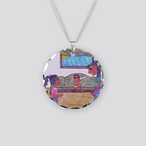 Hurry Up Necklace Circle Charm