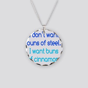buns-of-steel1 Necklace Circle Charm