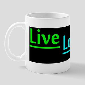 LIVELOVEBARKBumperstickerDARK Mug