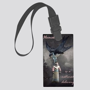 bird delivery 7x10 Large Luggage Tag