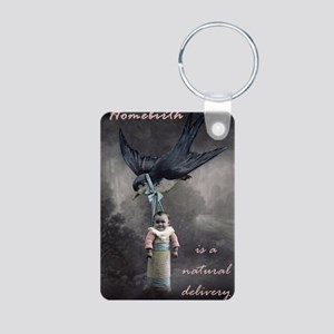 bird delivery 7x10 Aluminum Photo Keychain