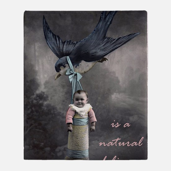 bird delivery 7x10 Throw Blanket
