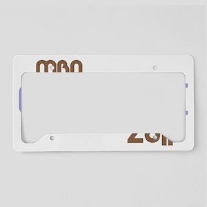 funkygradmba2011purple License Plate Holder