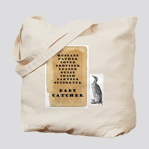 Penguin father 9x9 Tote Bag