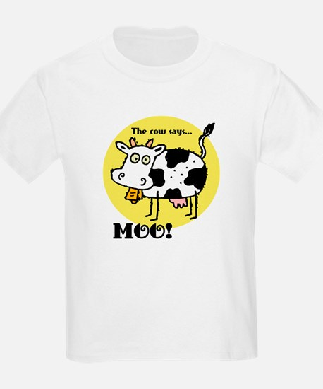 The Cow Says Moo Kids T-Shirt