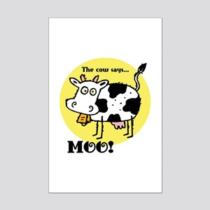 The Cow Says Moo Mini Poster Print