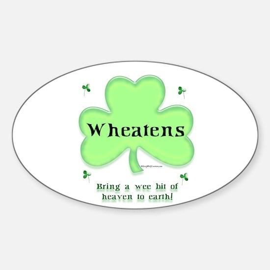 Wheaten Heaven Oval Decal