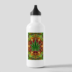 marijuana-mandala-fina Stainless Water Bottle 1.0L