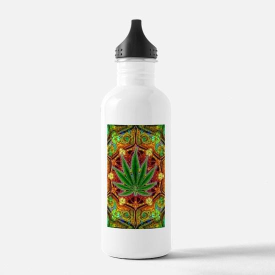 marijuana-mandala-fina Water Bottle