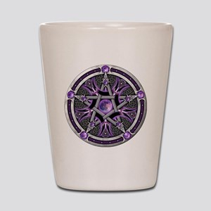 Purple Moon Pentacle Shot Glass