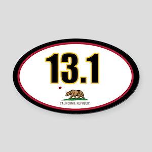 CALIFORNIA-131-OVALsticker Oval Car Magnet