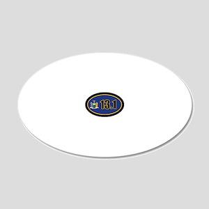 NewYork-131-OVALsticker 20x12 Oval Wall Decal