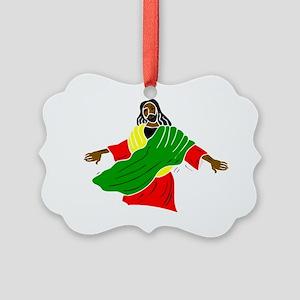 Black Jesus Picture Ornament