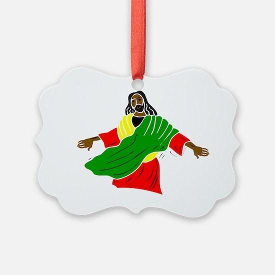 Black Jesus Ornament