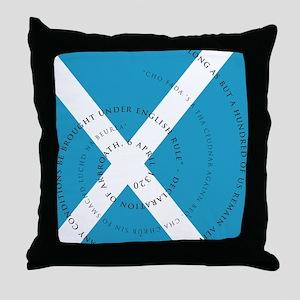 Tartan Day - Arbroath Throw Pillow