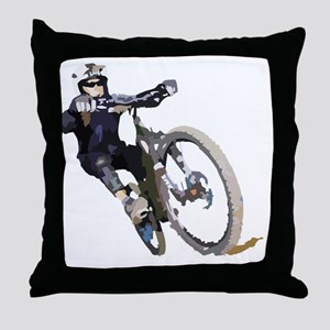 Velo_tout-terrain_front_wht Throw Pillow