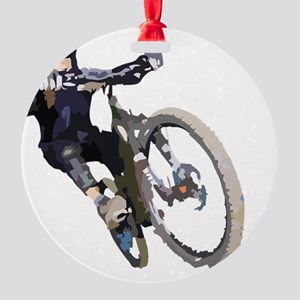 Velo_tout-terrain_front_wht Round Ornament