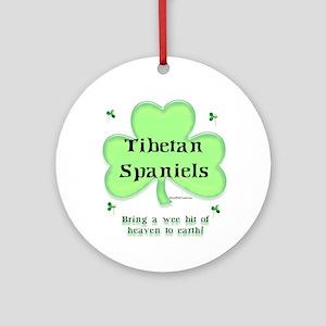 Tibetan Spaniel Heaven Ornament (Round)