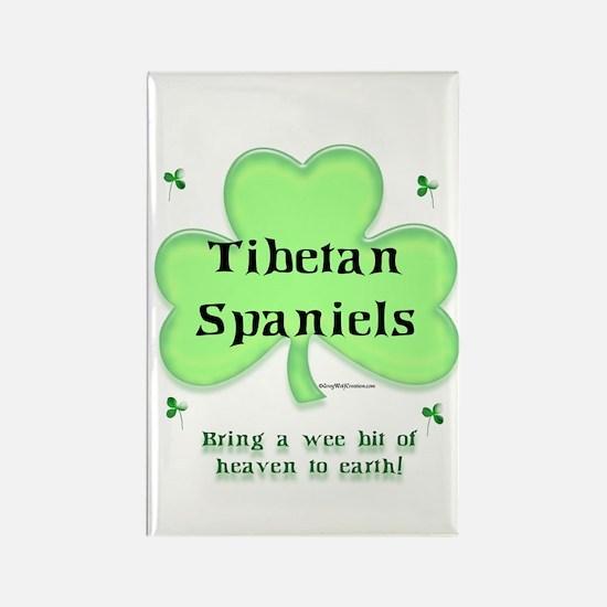 Tibetan Spaniel Heaven Rectangle Magnet