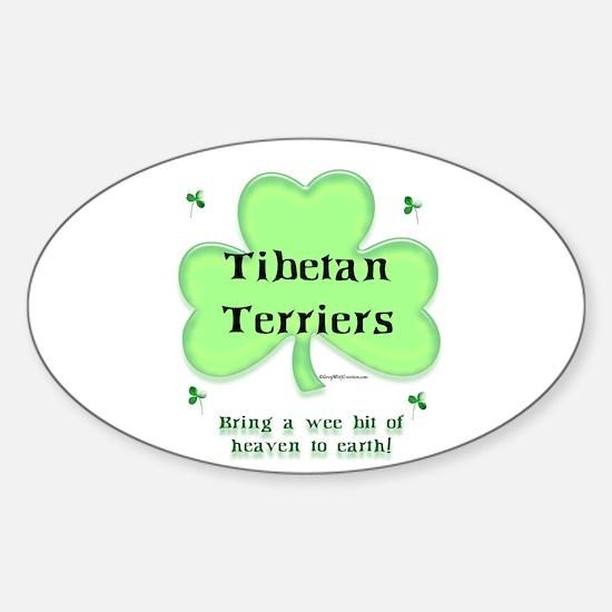 Tibetan Terrier Heaven Oval Decal