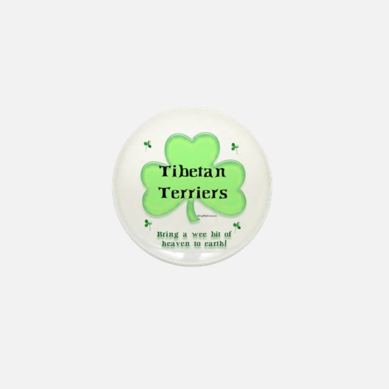 Tibetan Terrier Heaven Mini Button