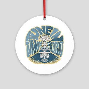 tune-in-T Round Ornament