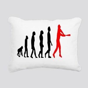 baseball evo tall red Rectangular Canvas Pillow