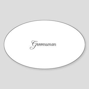Groomsman - Formal Oval Sticker