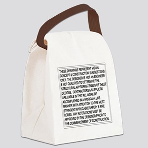 Designer-Disclaimer Canvas Lunch Bag