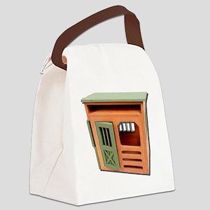 WoodenStorageShed022111 Canvas Lunch Bag