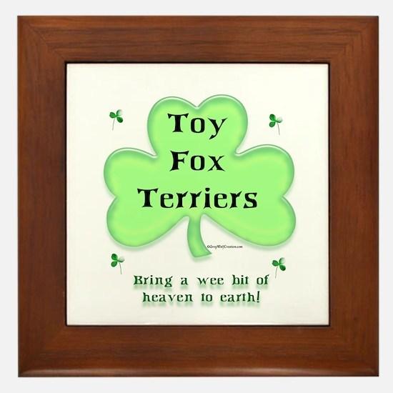 Toy Fox Heaven Framed Tile